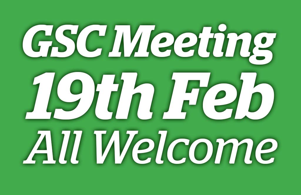 GSC Meeting 19/02/15