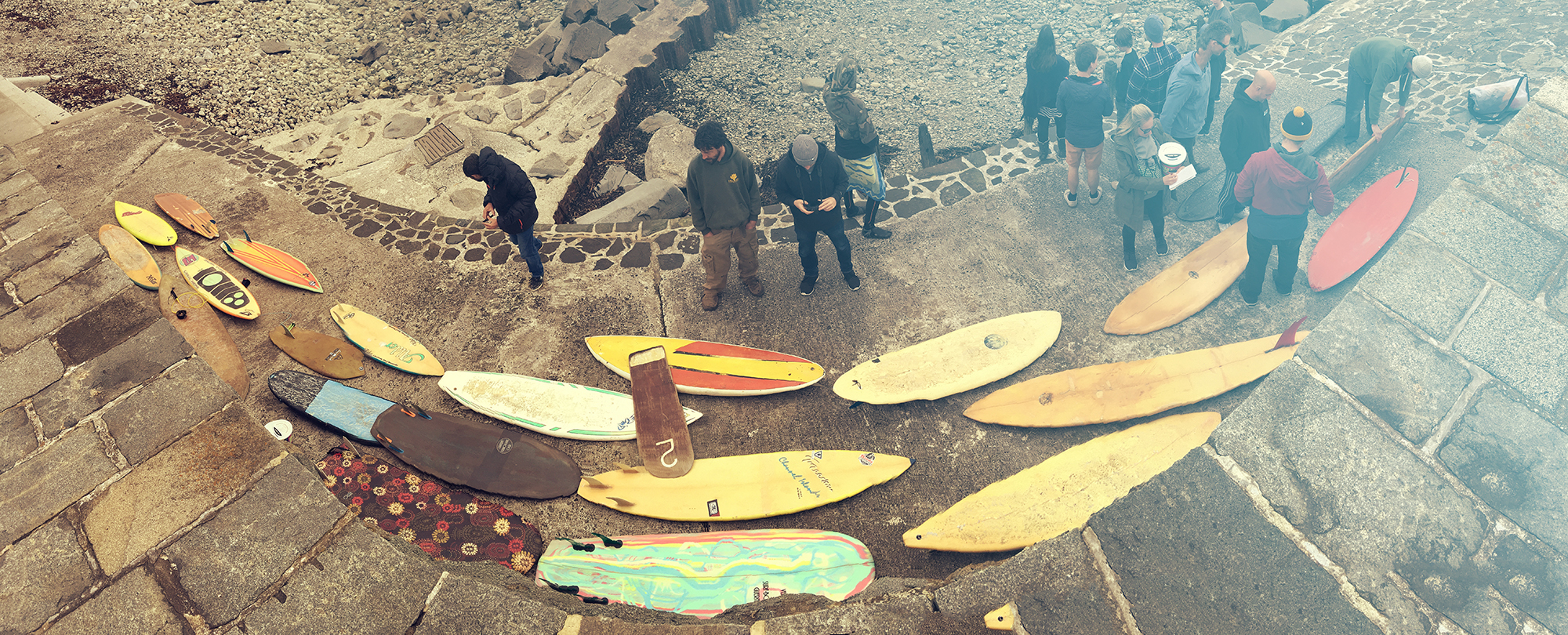 Unusual boards and great waves