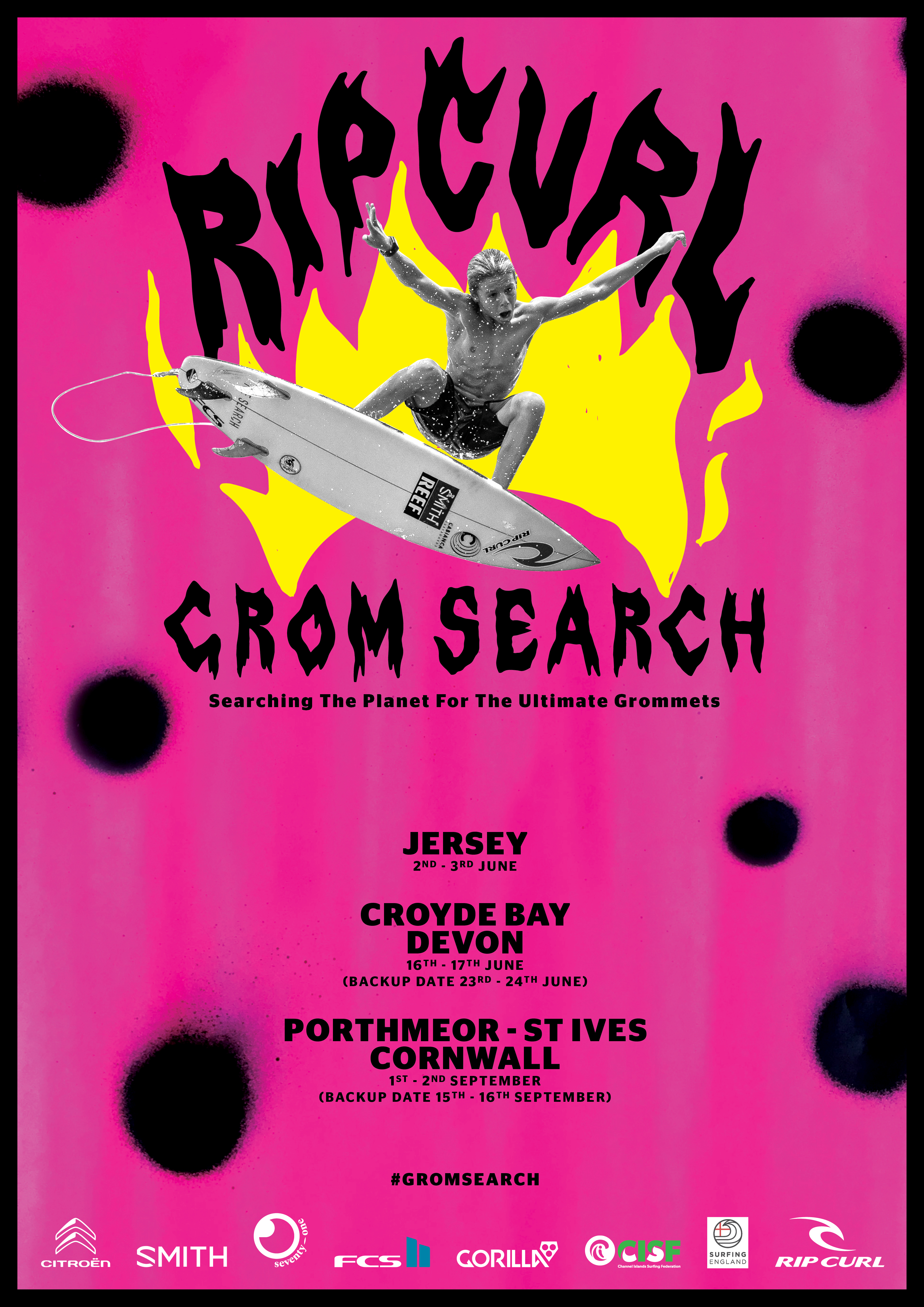 The Grom Search is coming to Jersey.
